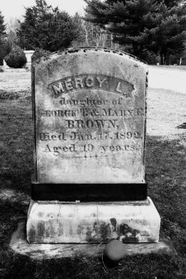The grave of Mercy Lena Brown photo by Ronald Correia