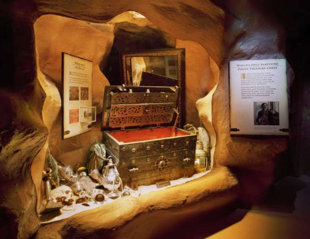 The only authentic pirate treasure chest in the world. 400 years old by Pirate and Treasure Museum