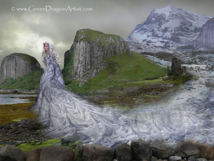 Illustration of the Winter Goddess