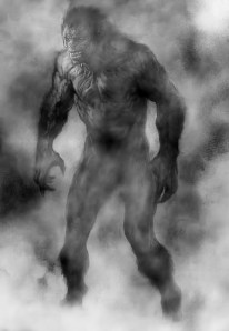 Illustration of the Grey Man by thecryptozoologist webs com