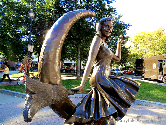 "The ""Bewitched"" statue in the center of Salem, MA, photo by Christa Thompson"