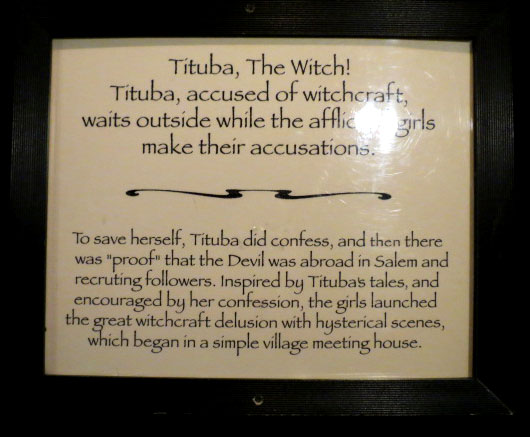 From the Salem Wax Museum of Witches & Seafarers by Christa Thompson