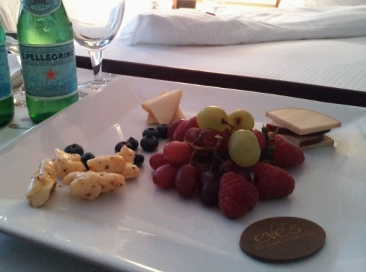 The hotel was so thoughtful so send up in room amenities. It's as if they read my mind... yum! By Christa Thompson