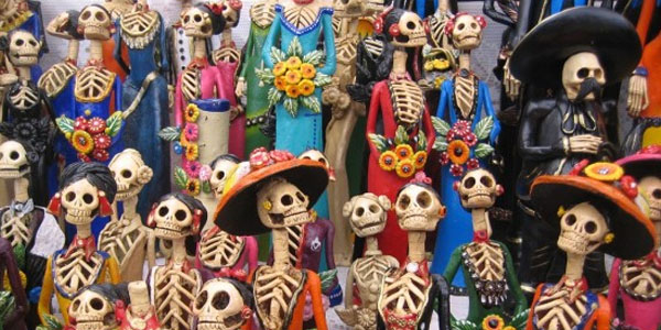 More skeletons in celebration of Dia de los Muertos