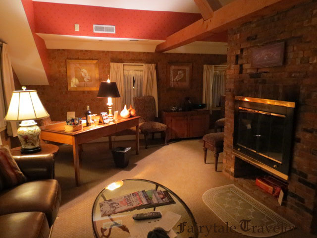 The living room in my apartment suite by Christa Thompson