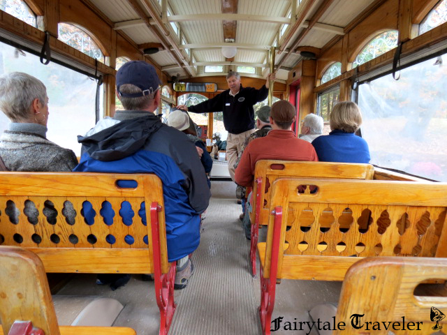 Kids love the trolley ride. The Little Fairytale Traveler wanted to ride it again and again, lol. By Christa Thompson