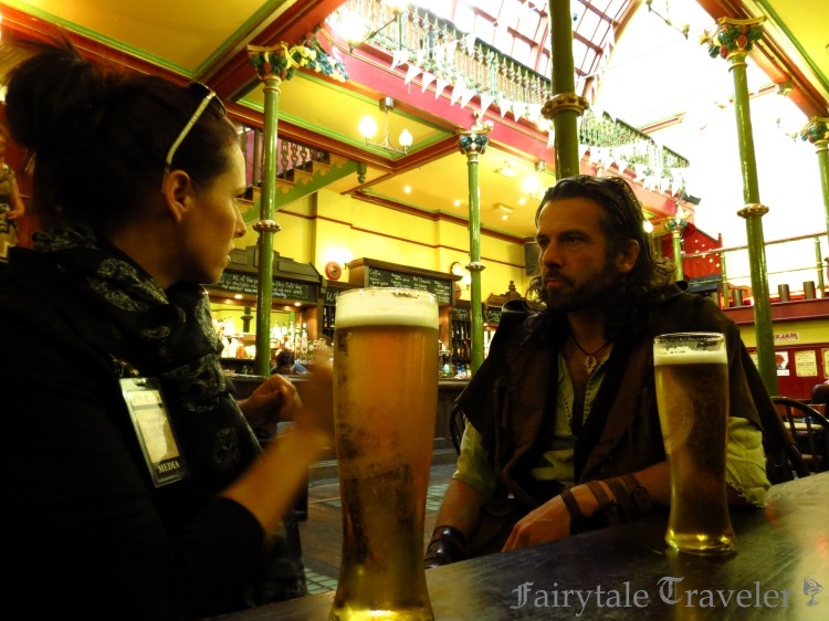 With Ezekial Bone as Robin Hood at the Malt Cross Pub in Nottingham