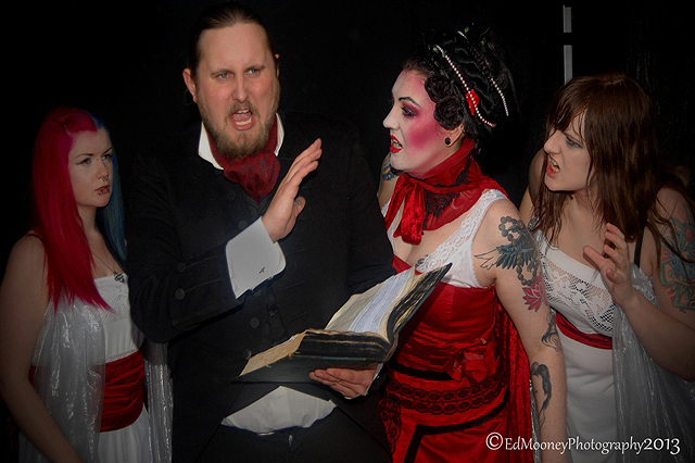 Countess Dracula performance in Dublin for the Bram Stoker Festival, photo by Ed Mooney